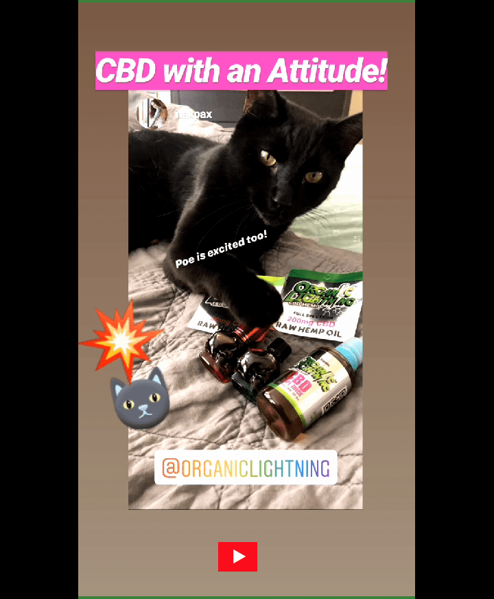 Organic Lightning CBD Oil and Vape by @itskpax on Instagram