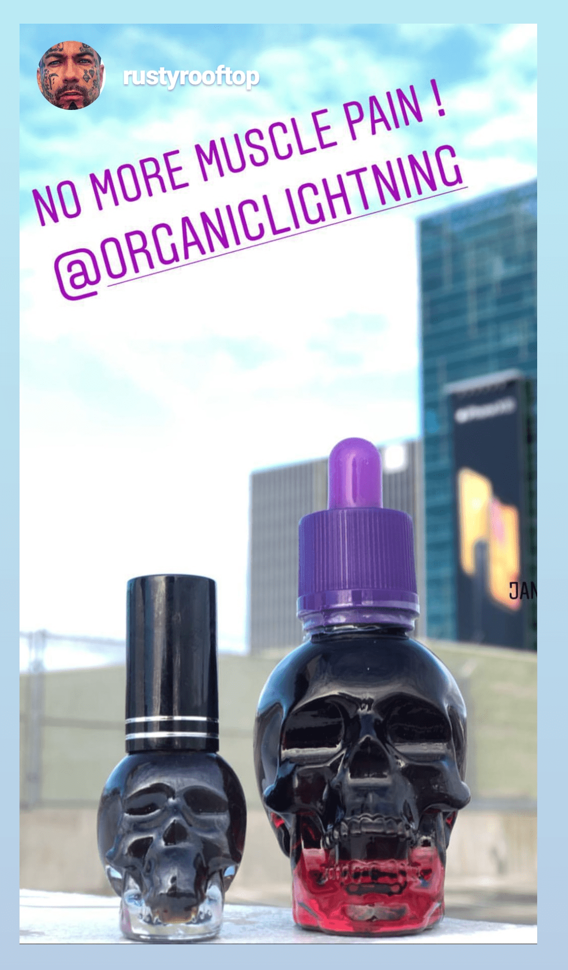 Organic Lightning CBD Oil and Vape by @rustyrooftop on Instagram