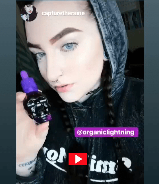 Review of Organic Lightning CBD Oil and Vape by @capturetheraine on Instagram